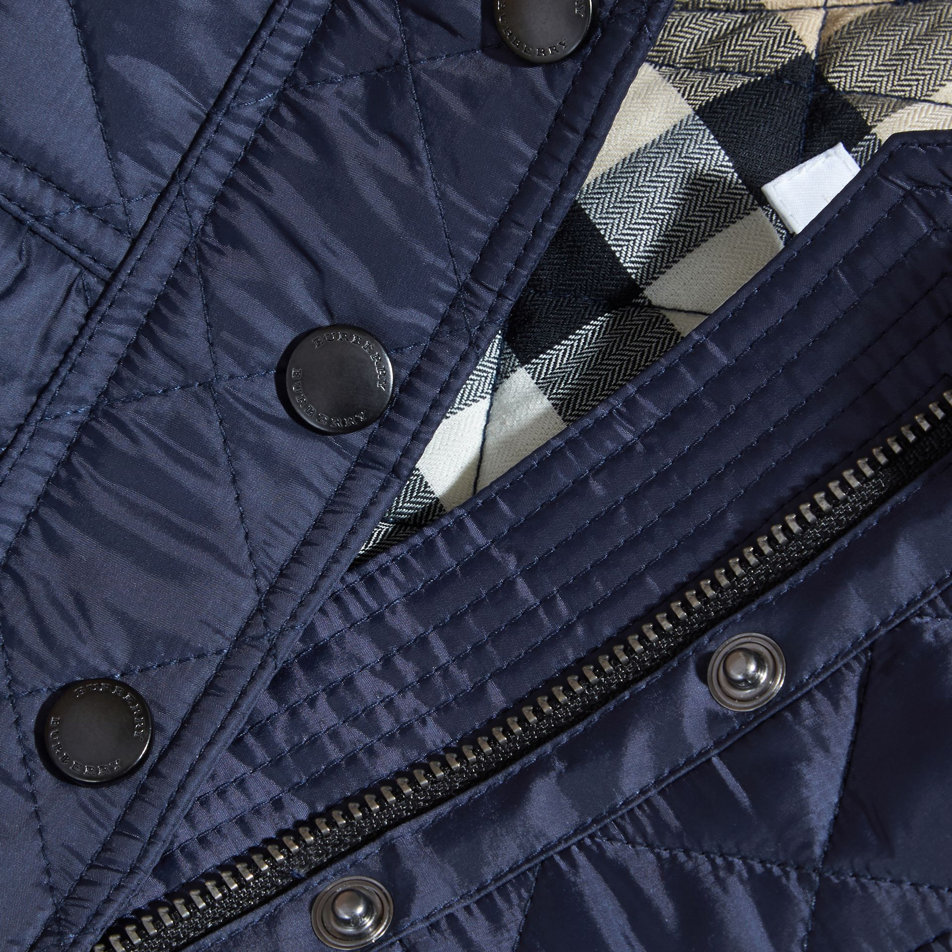 Diamond Quilted Trench Coat - gallery image 2