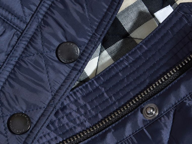 Diamond Quilted Trench Coat - cell image 1