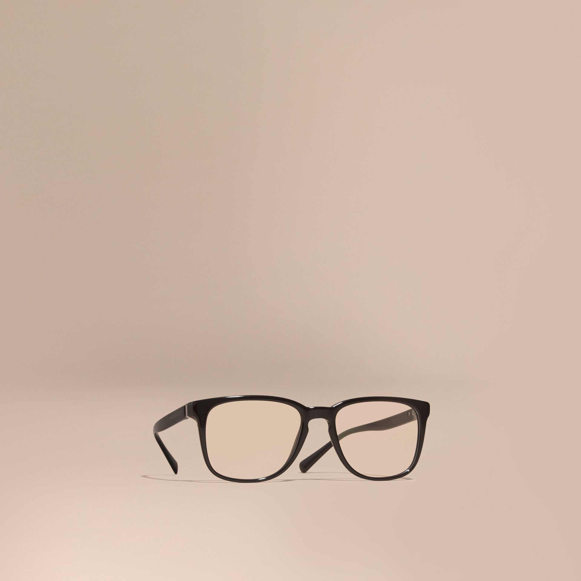 Square Optical Frames in Black - gallery image 1