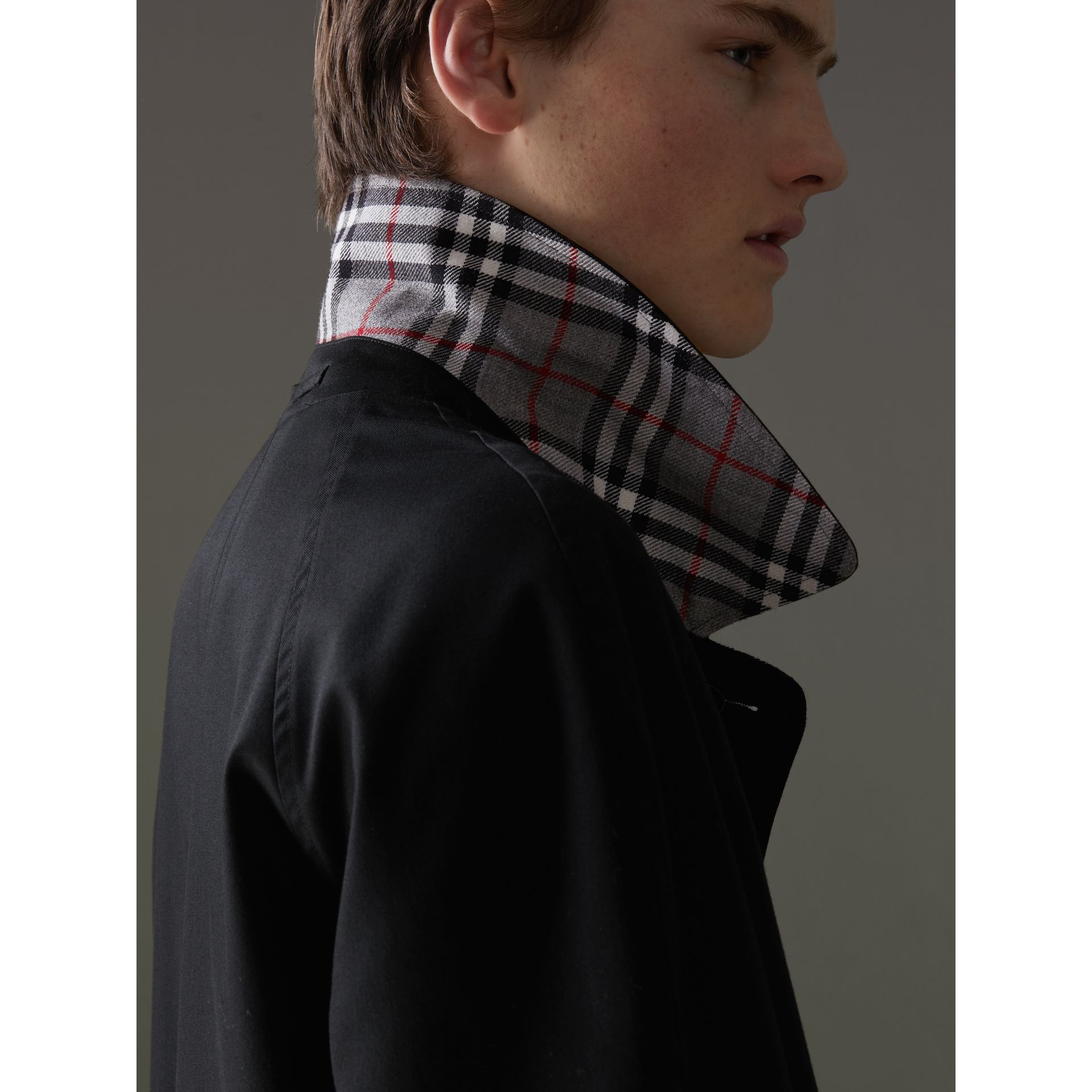 Reissued Reversible Car Coat in Black - Men | Burberry United Kingdom - gallery image 1