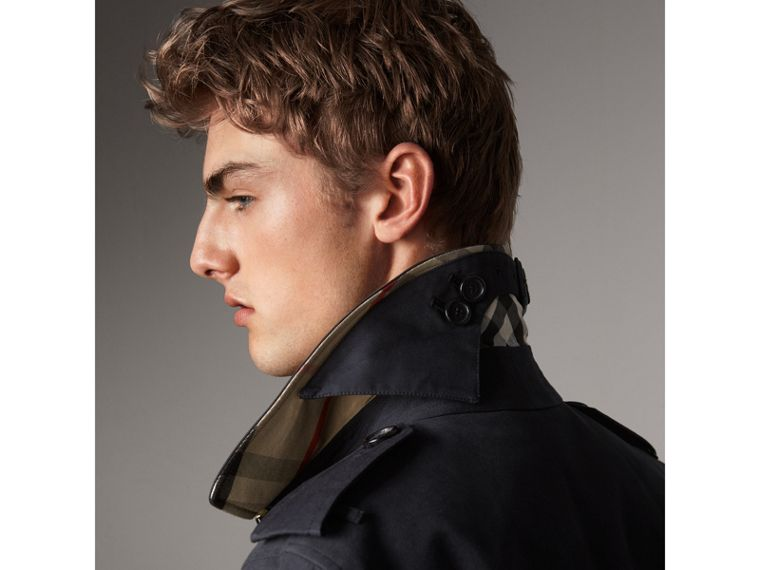 The Sandringham – Long Trench Coat in Navy - Men | Burberry - cell image 1