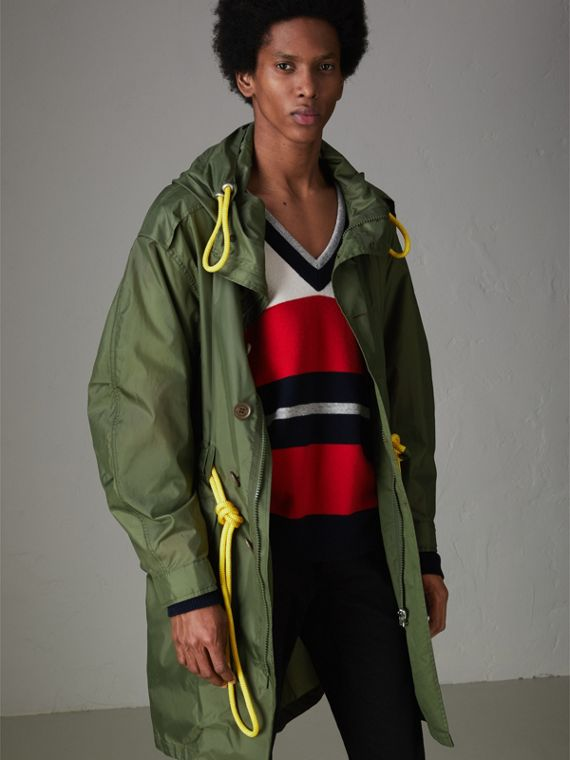 Oversized Technical Parka in Light Olive