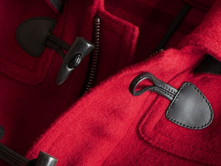 Hooded Wool Duffle Coat in Parade Red - Boy | Burberry - cell image 1