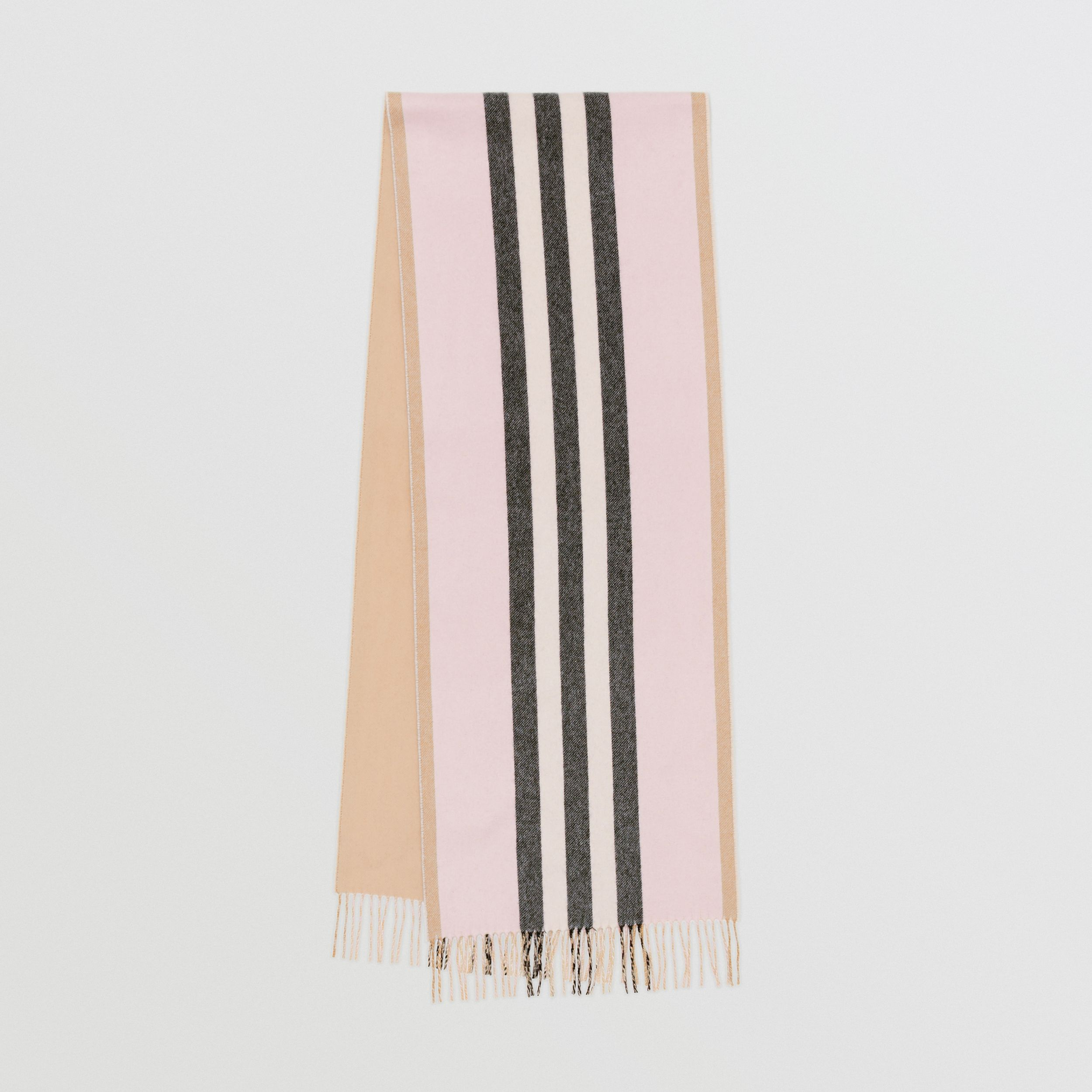 Reversible Icon Stripe Cashmere Scarf in Alabaster | Burberry Hong Kong S.A.R - 1
