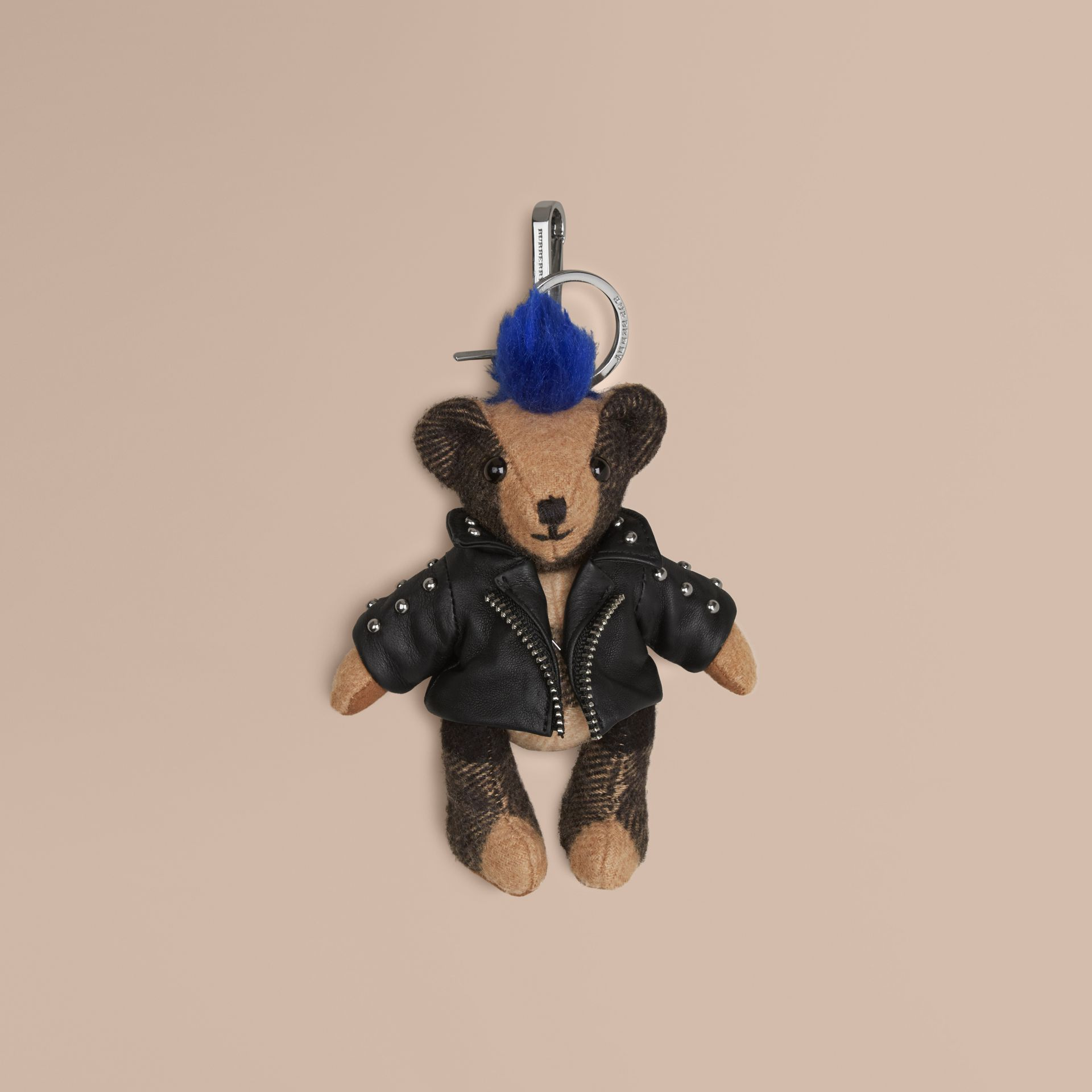 The Punk Thomas Bear Charm in Camel | Burberry - gallery image 1