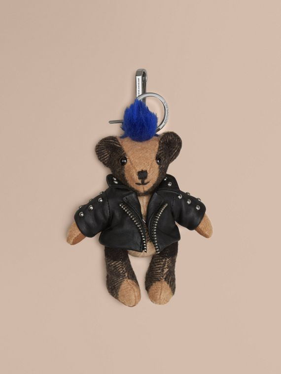 The Punk Thomas Bear Charm in Camel | Burberry