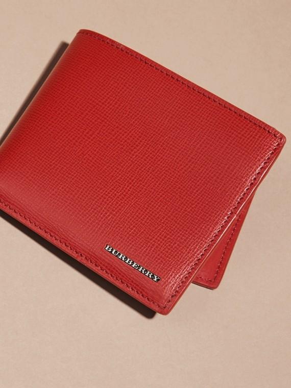 Rosso militare scuro Portafoglio a libro in pelle London - cell image 2