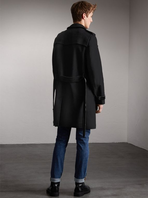 Cashmere Wool Trench Coat in Black - Men | Burberry Hong Kong - cell image 2