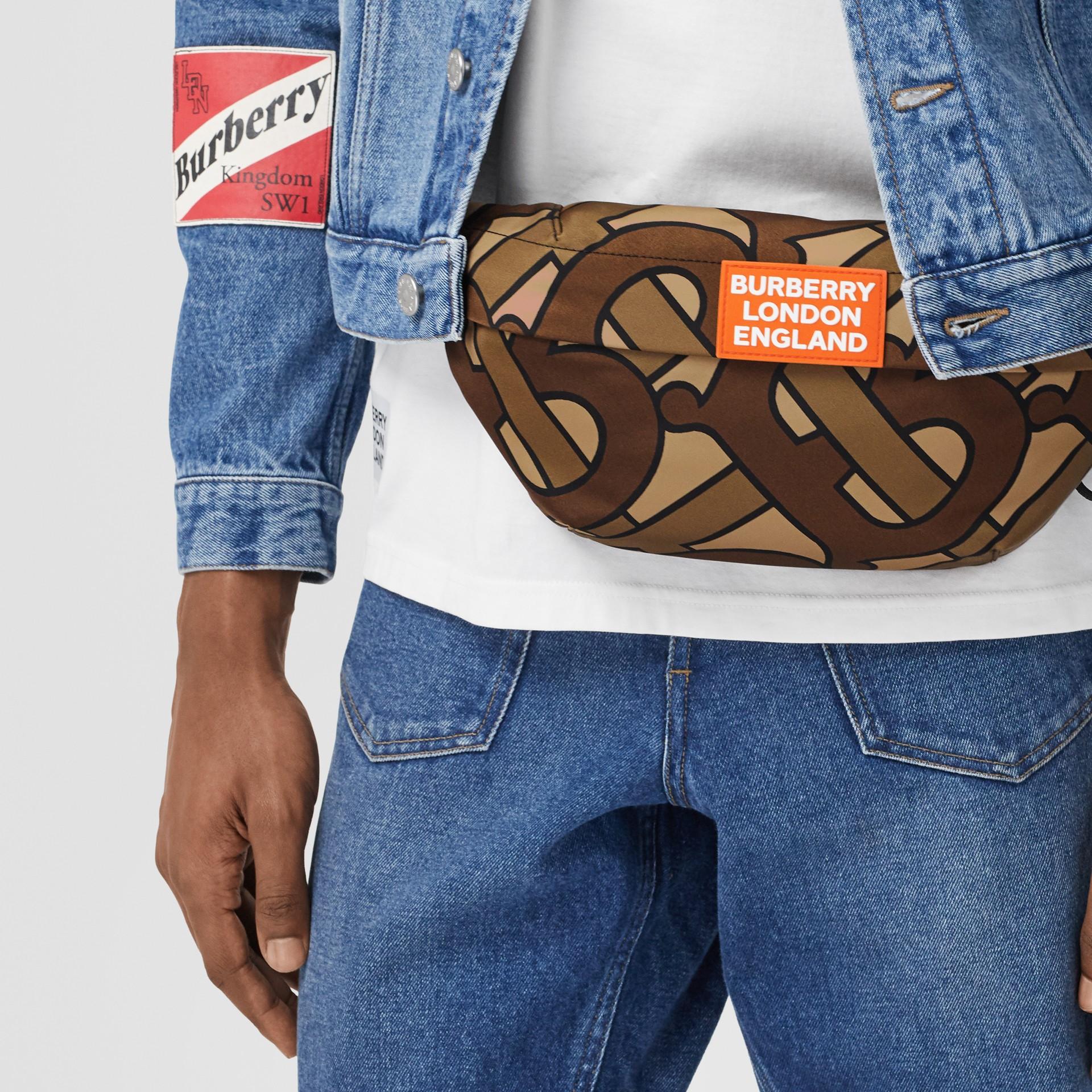 Monogram Print Nylon Sonny Bum Bag in Bridle Brown - Men | Burberry - gallery image 3