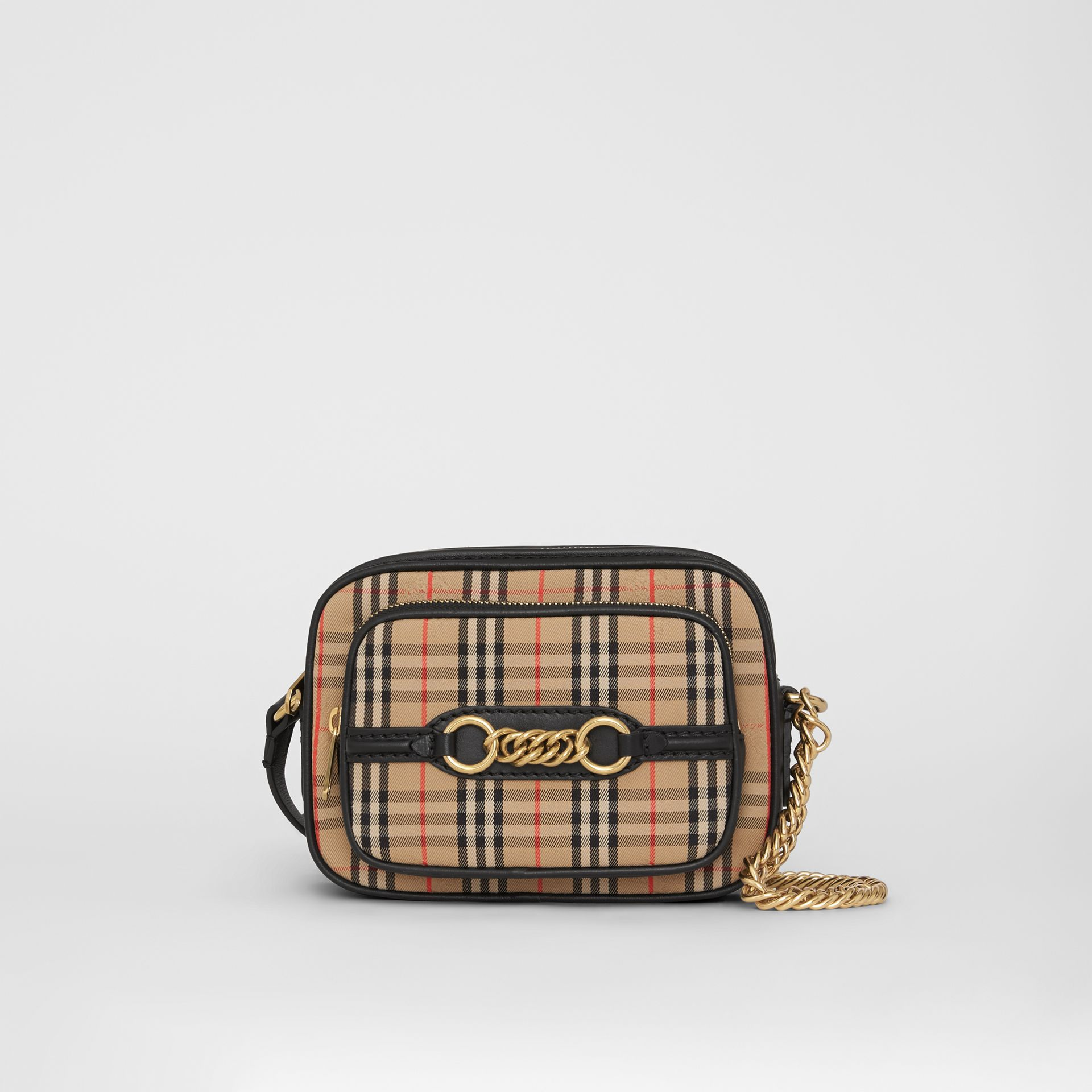 The 1983 Check Link Camera Bag in Black - Women | Burberry Australia - gallery image 0