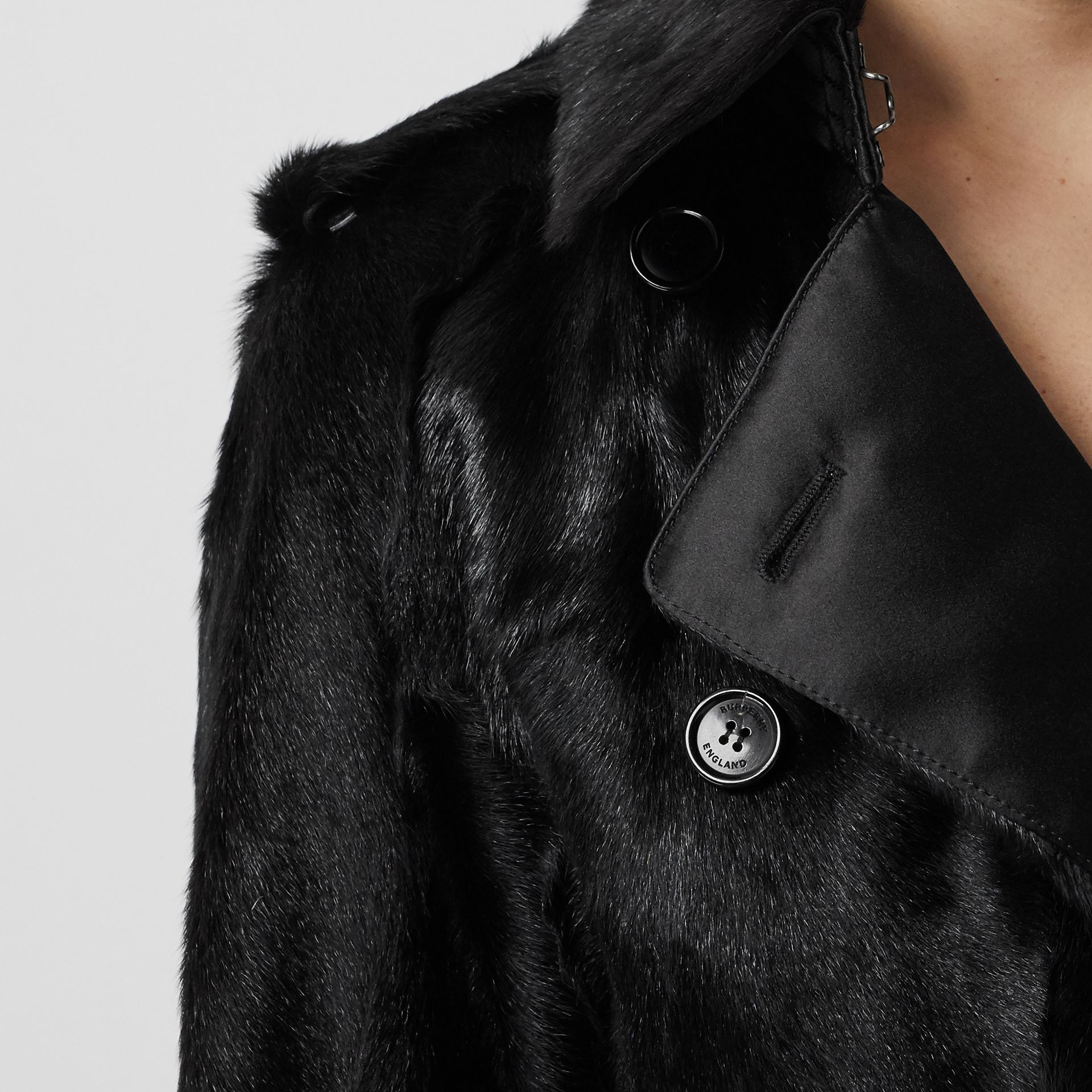 Goat Trench Coat in Black - Women | Burberry - gallery image 4