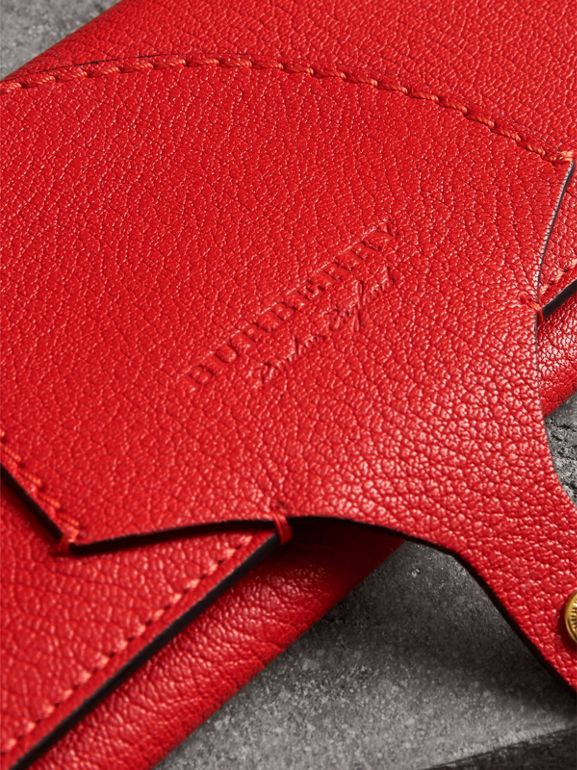Equestrian Shield Two-tone Leather Continental Wallet in Bright Red - Women | Burberry - cell image 1