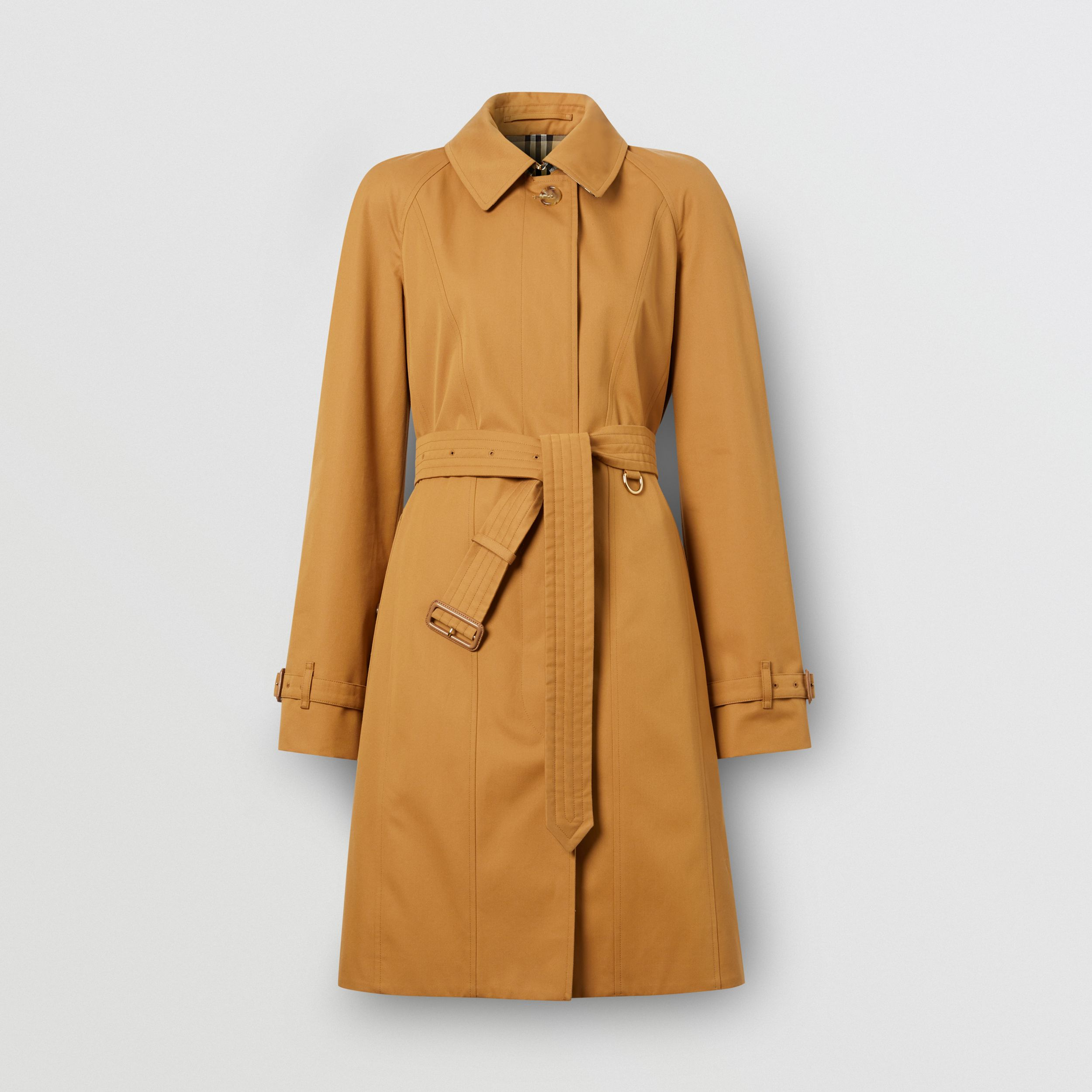 Cotton Gabardine Belted Swing Coat in Nutmeg - Women | Burberry United States - 4