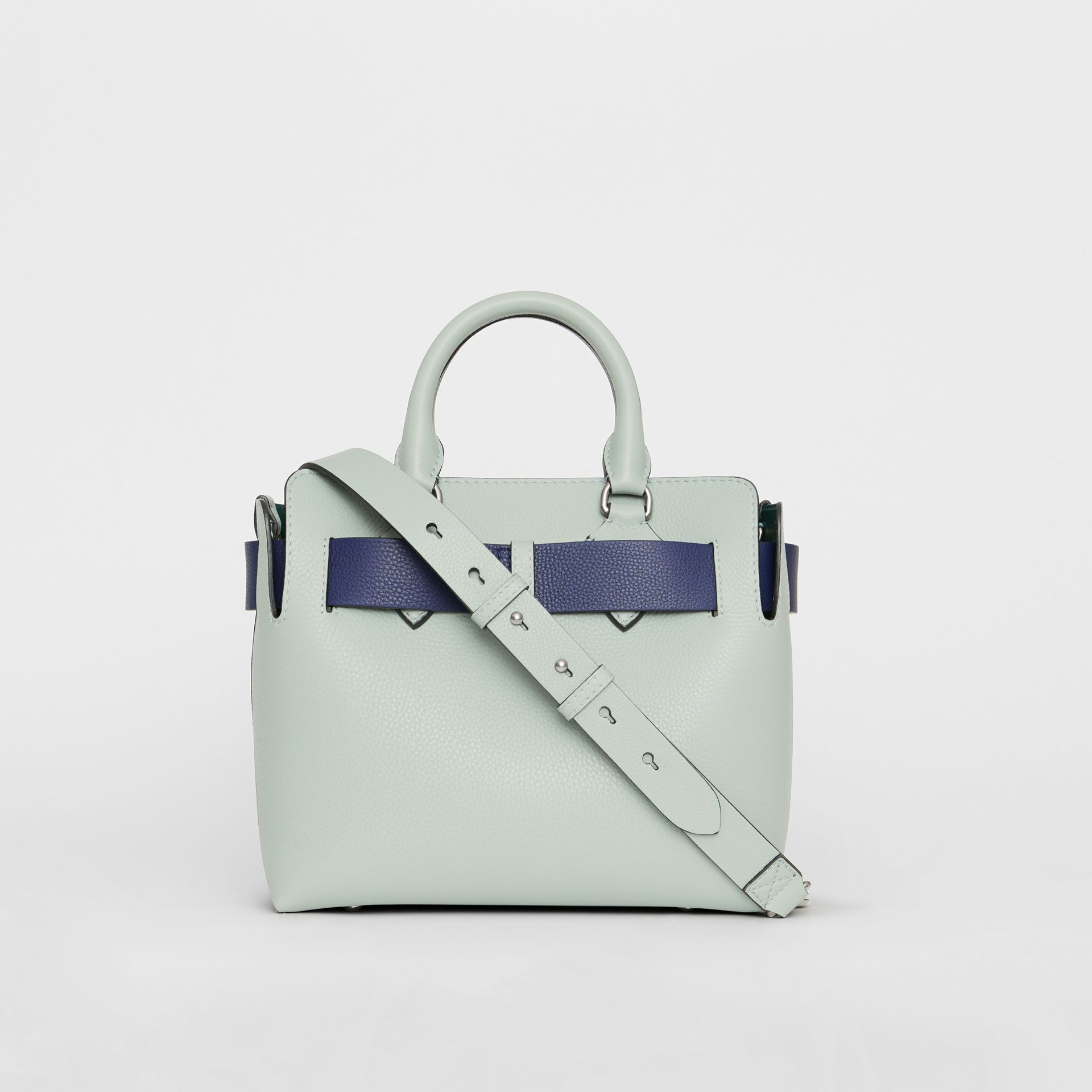 The Small Leather Belt Bag in Grey Blue - Women | Burberry - gallery image 7
