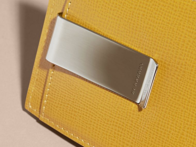 London Leather Money Clip Card Case Larch Yellow - cell image 1