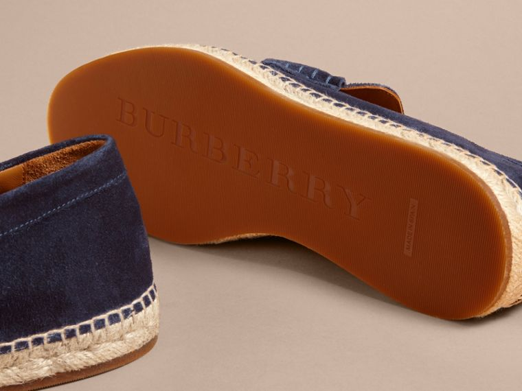 Tasselled Suede Espadrille Loafers Midnight Blue - cell image 4