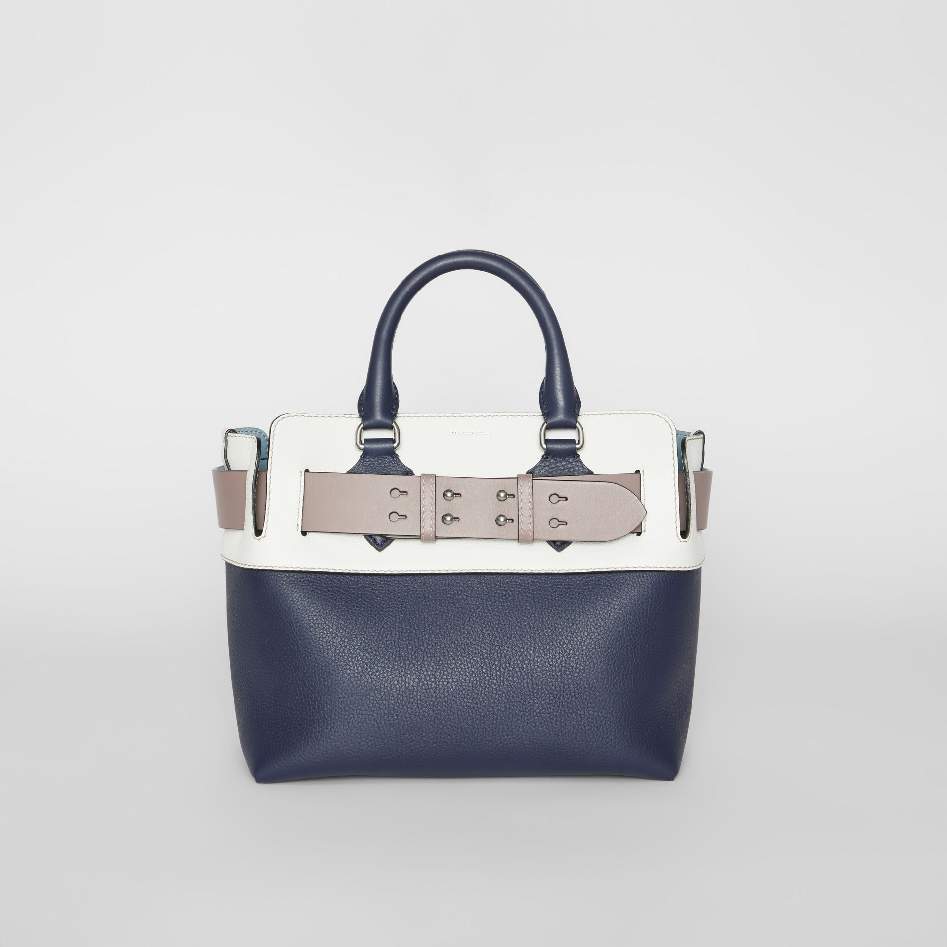 The Small Quadri-tone Leather Belt Bag in Regency Blue/chalk White - Women | Burberry - gallery image 0
