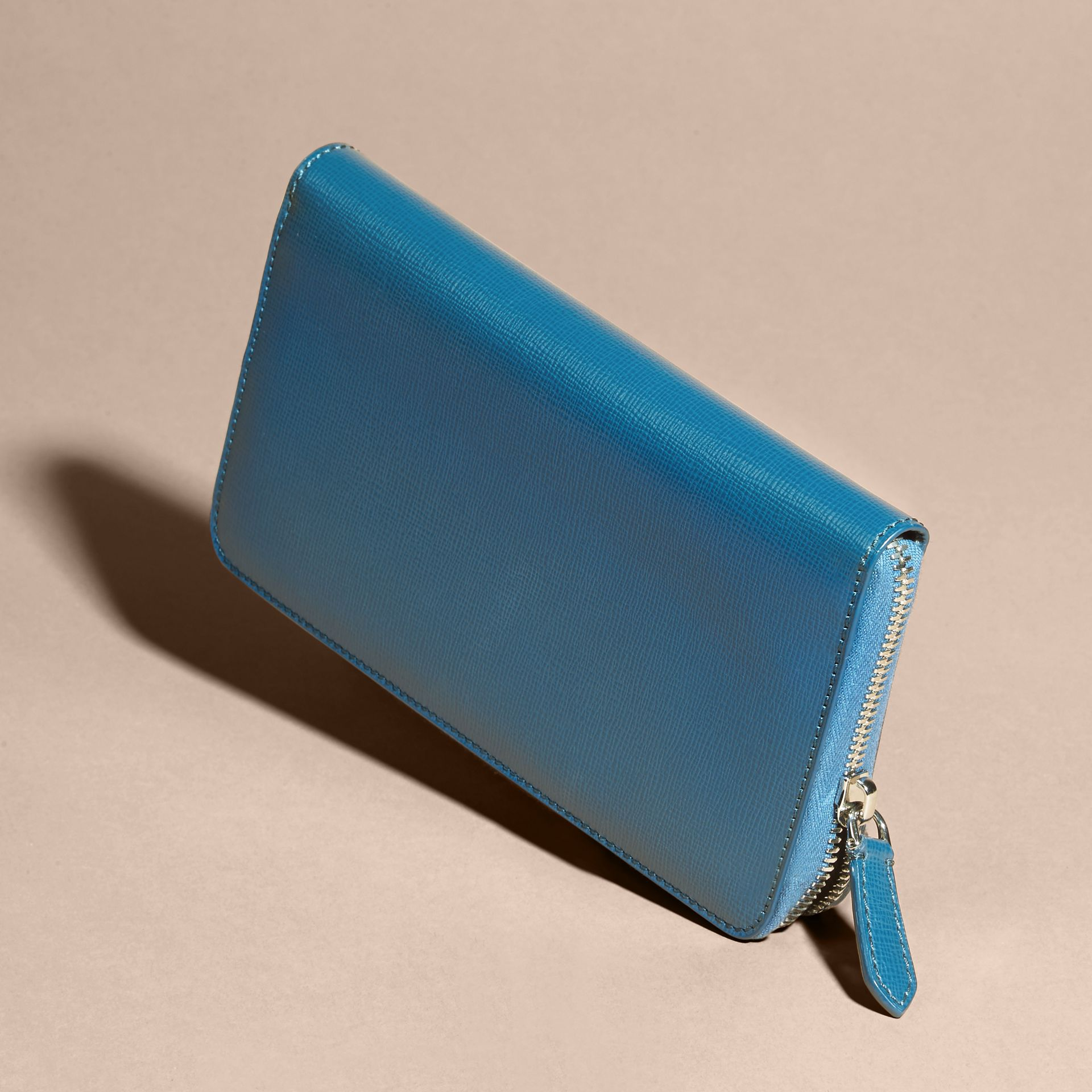 Mineral blue London Leather Ziparound Wallet Mineral Blue - gallery image 6