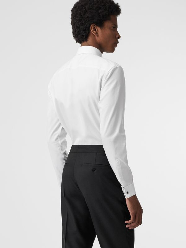 Modern Fit Double Cuff Cotton Shirt in White - Men | Burberry United States - cell image 2
