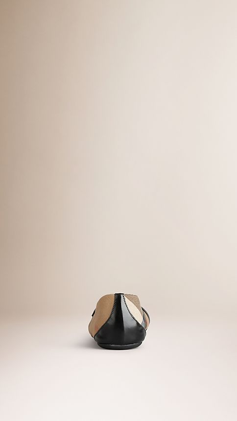 Black Bridle House Check Ballerinas Black - Image 3