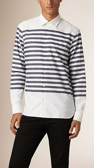 Regular Fit Bretton Stripe Cotton Shirt