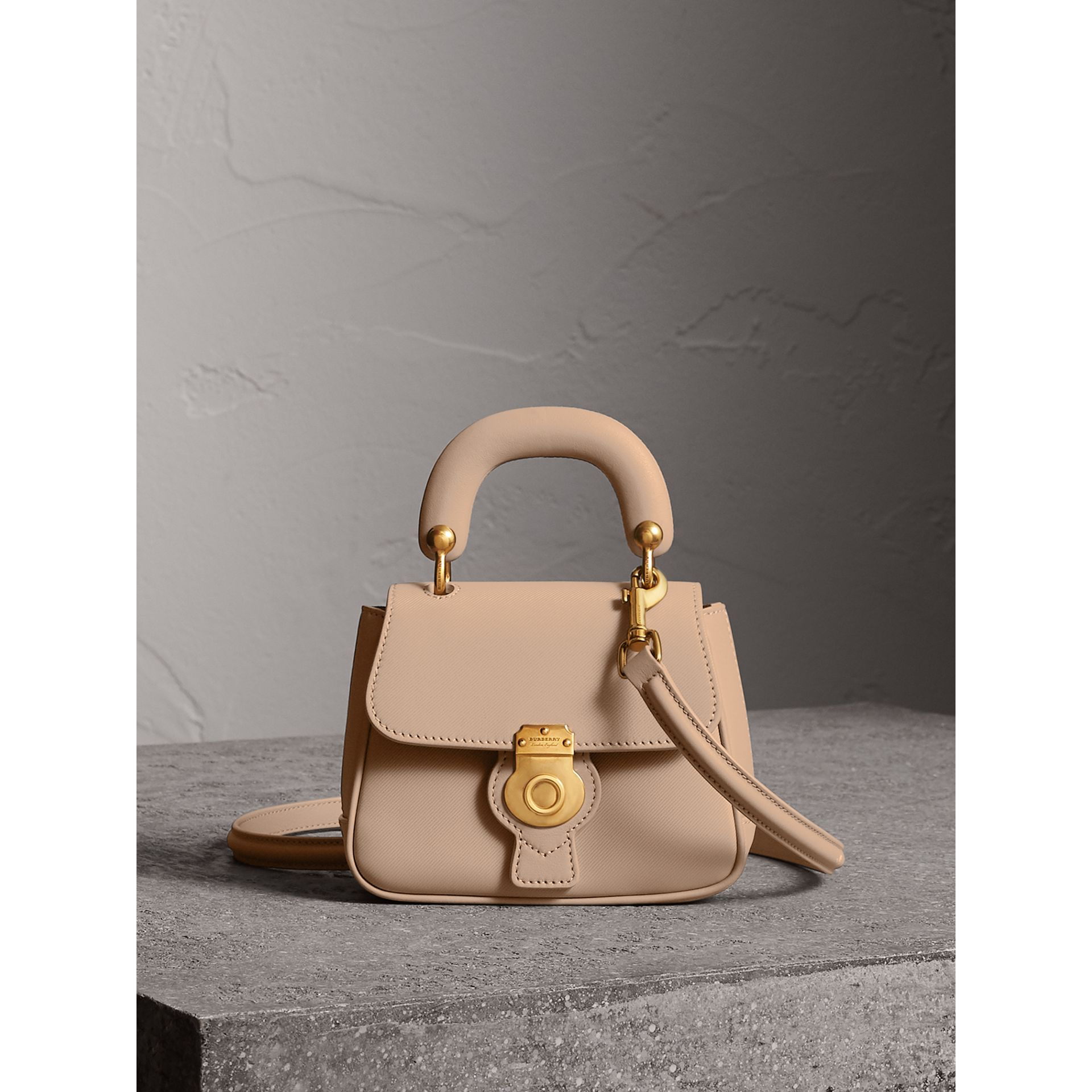 The Mini DK88 Top Handle Bag in Honey - Women | Burberry - gallery image 0