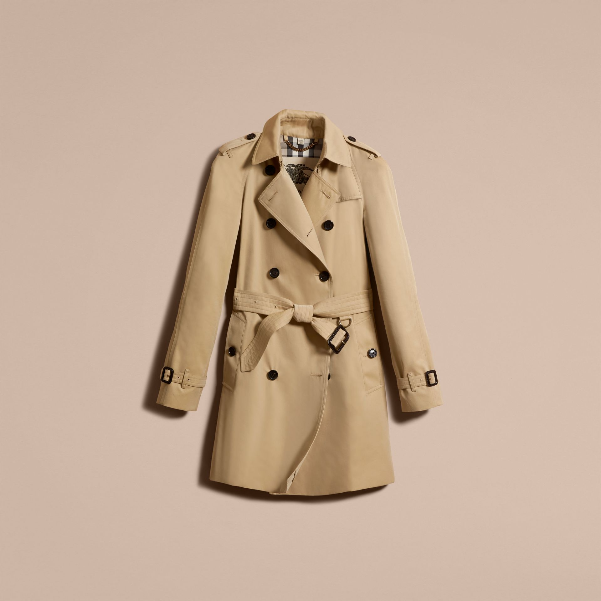Honey The Westminster – Mid-Length Heritage Trench Coat Honey - gallery image 4