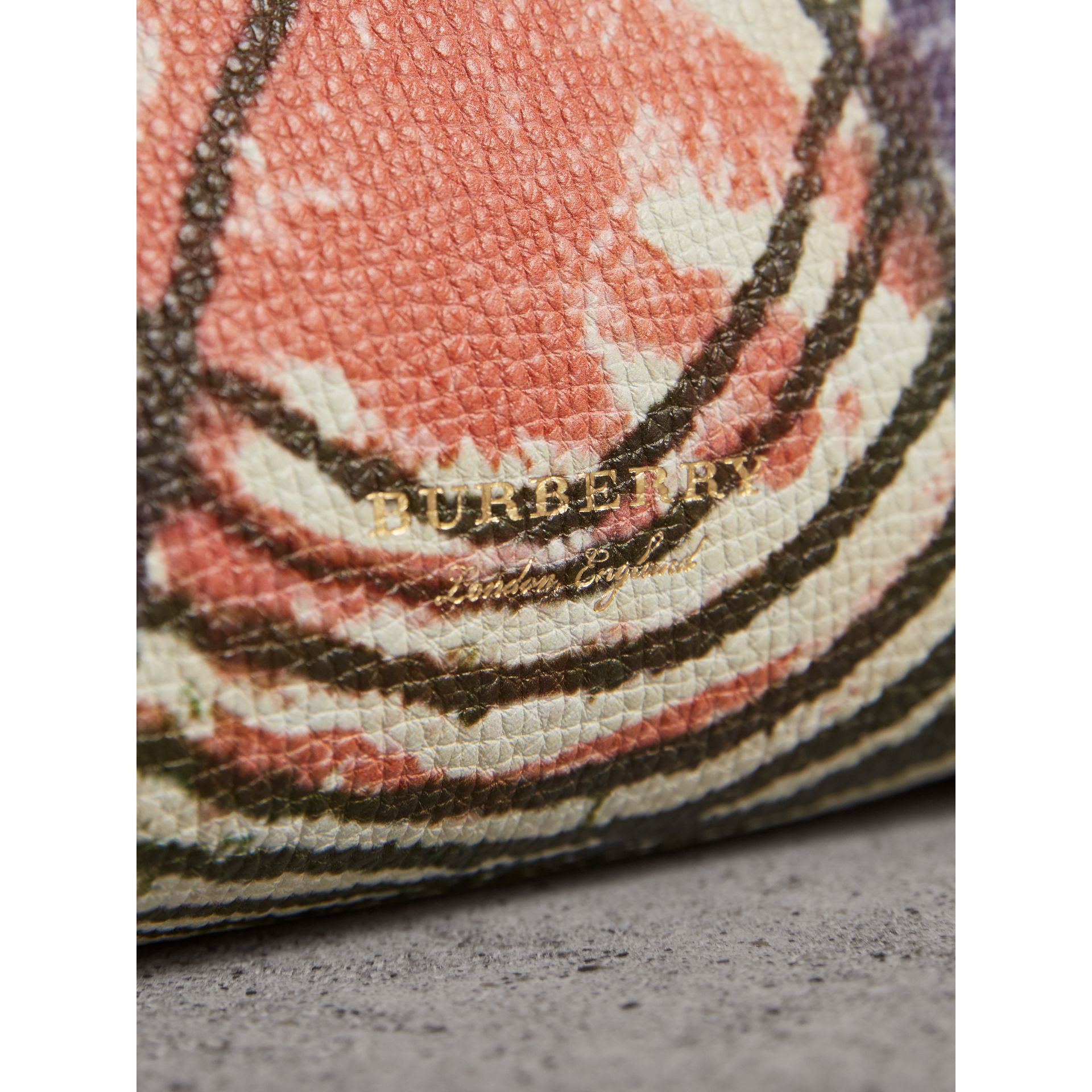 The Baby Banner in Leather with Pallas Heads Print in Cinnamon Red - Women | Burberry - gallery image 2