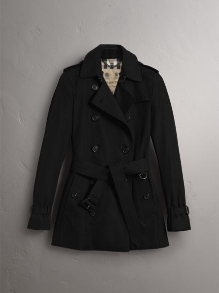 The Kensington – Short Heritage Trench Coat in Black - Women ...