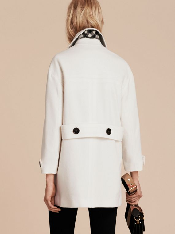 White Cashmere Duffle Coat White - cell image 2