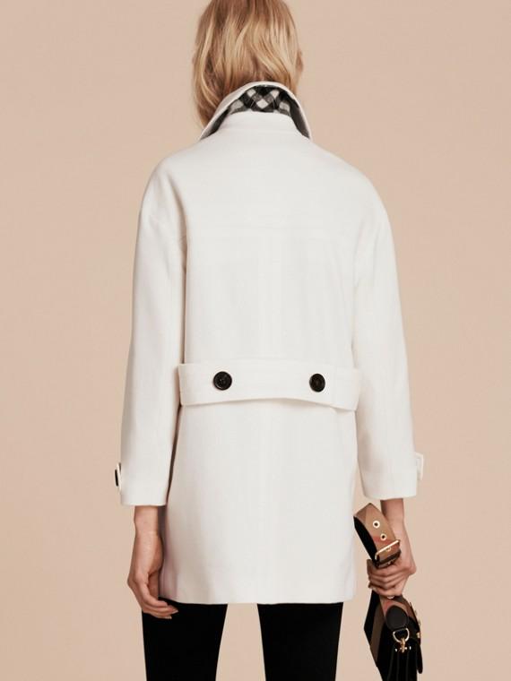 Blanc Duffle-coat en cachemire Blanc - cell image 2