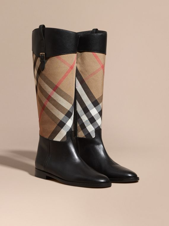 Botas de montar en piel y House Checks