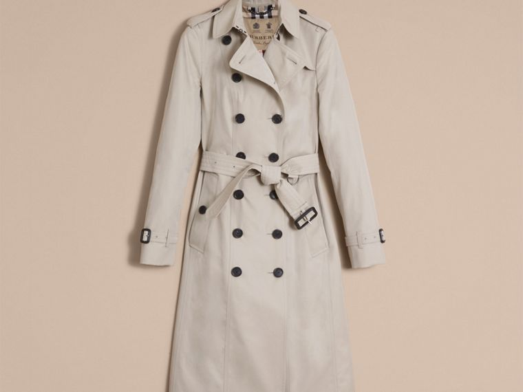 Stone The Sandringham – Extra-long Heritage Trench Coat Stone - cell image 4