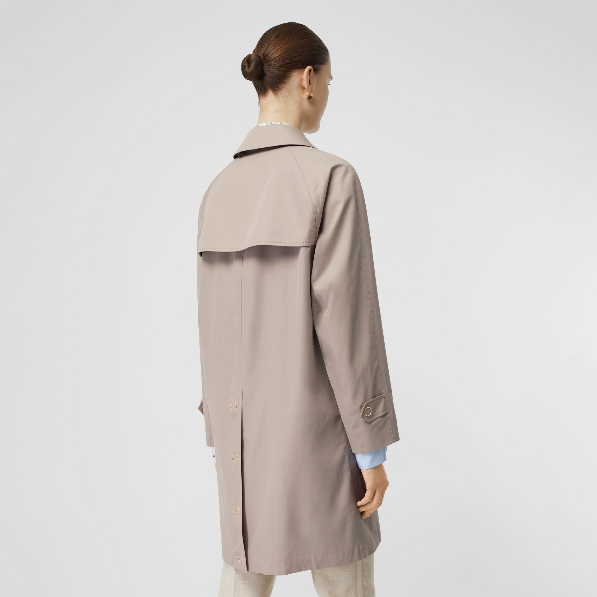 Cotton Gabardine Car Coat in Pale Blush - Women | Burberry - gallery image 2