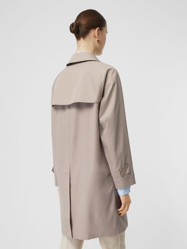 Cotton Gabardine Car Coat in Pale Blush - Women | Burberry - cell image 2