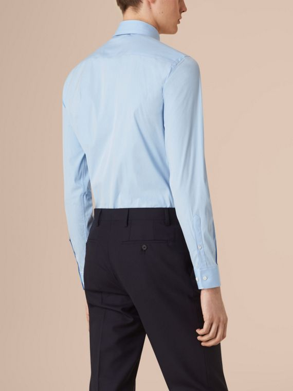 Blu urbano Camicia sfiancata in cotone stretch con colletto button-down Blu Urbano - cell image 2