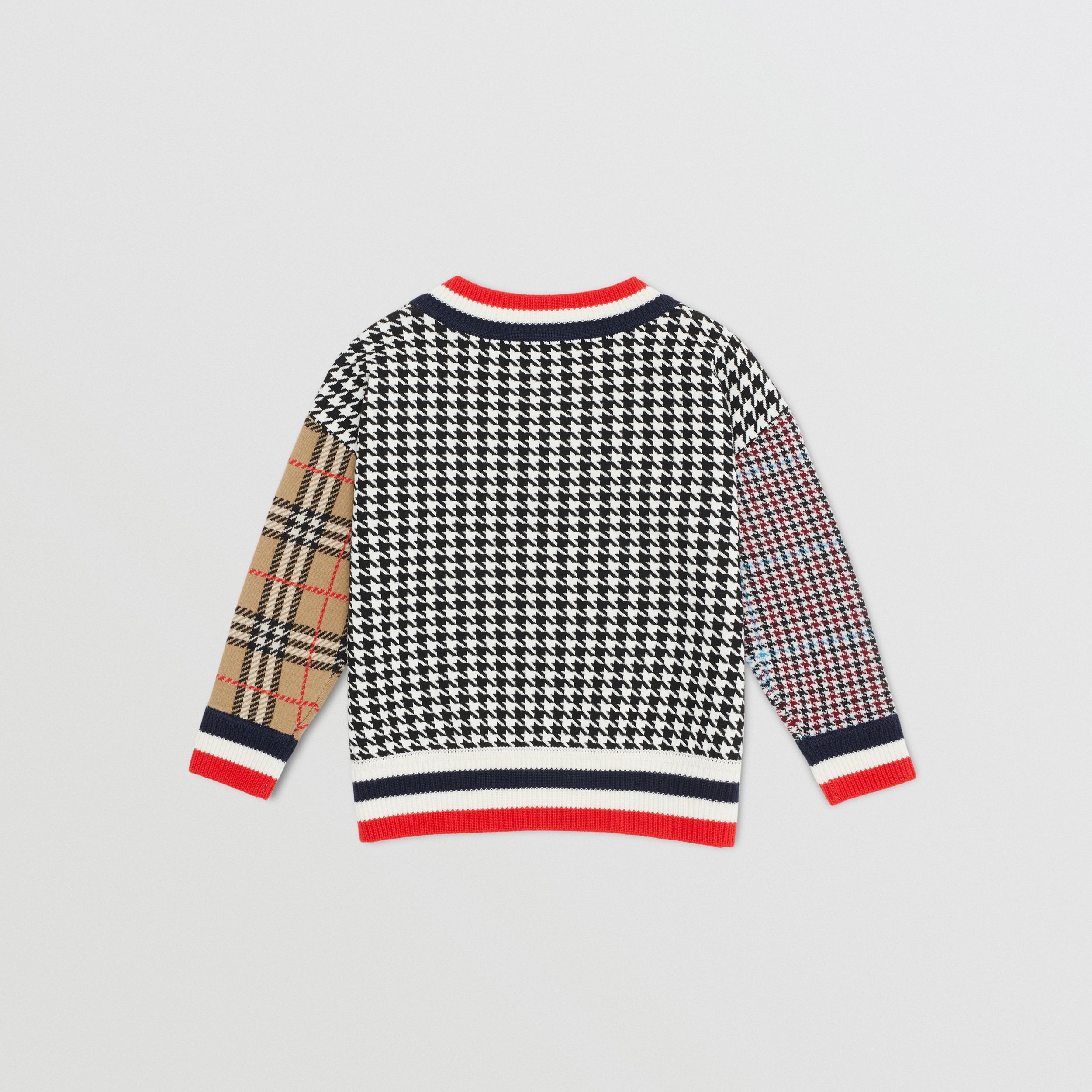 Patchwork Check Merino Wool Sweater | Burberry United States - 4
