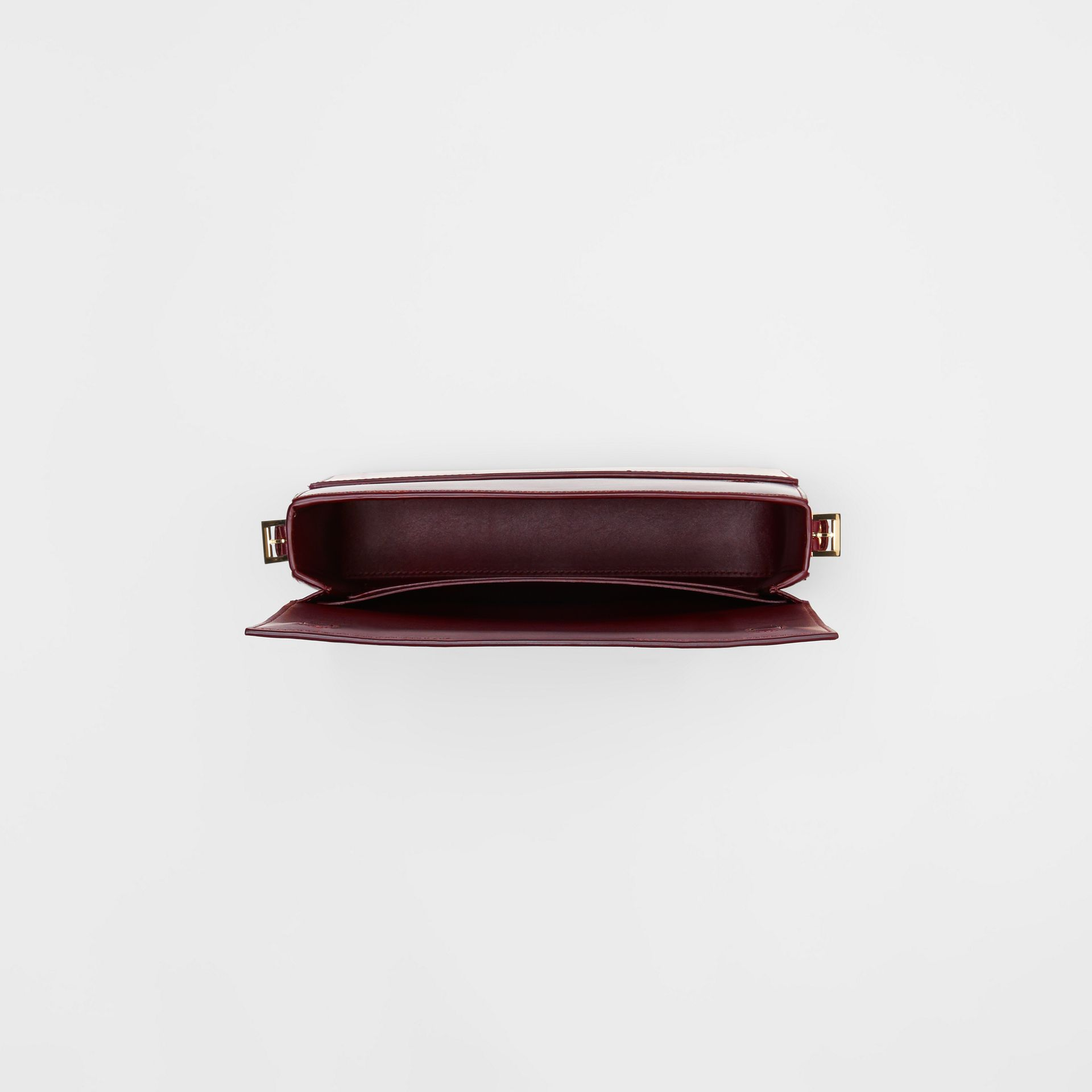 Grand sac Grace en cuir bicolore (Oxblood/rouge Militaire Vif) - Femme | Burberry - photo de la galerie 4