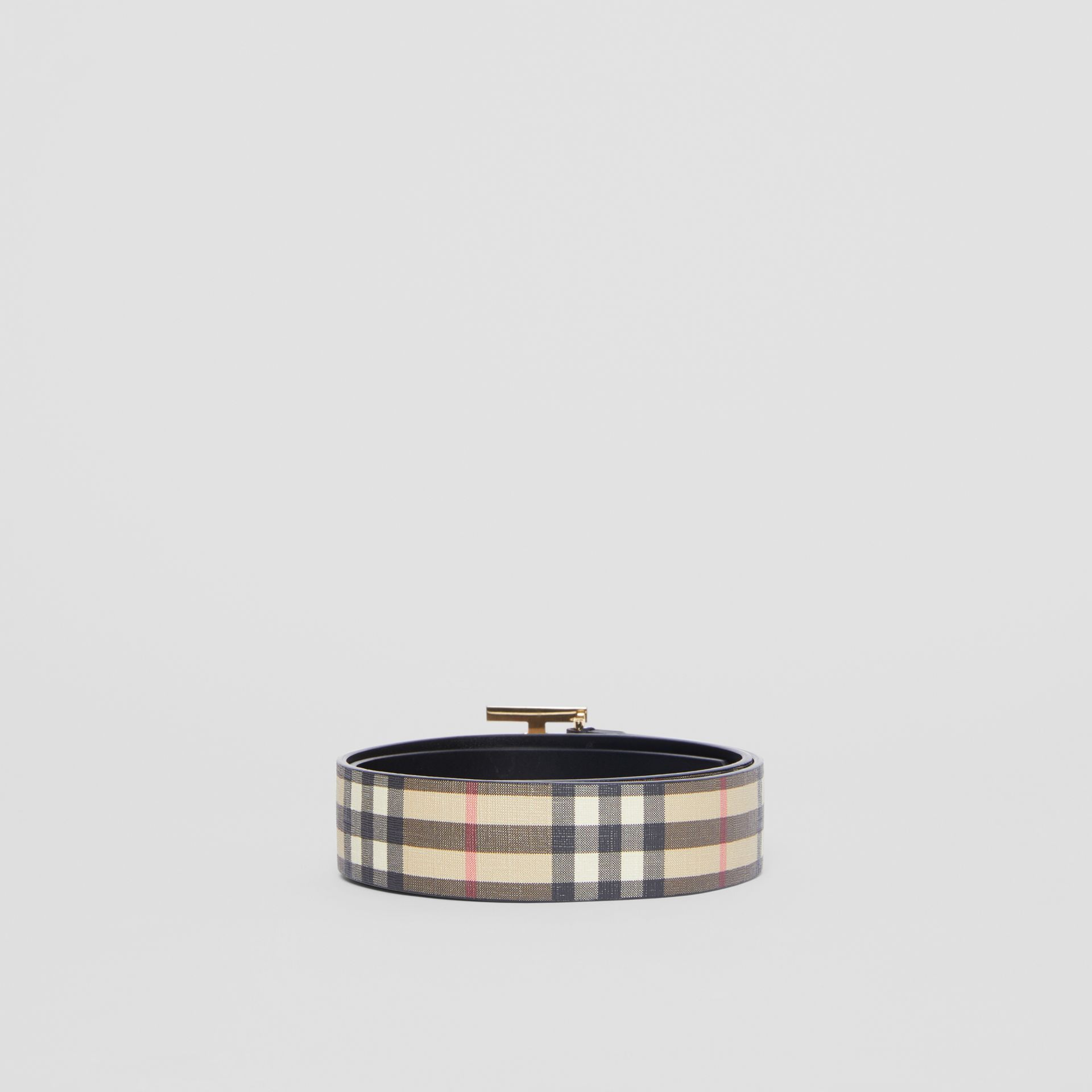 Monogram Motif Vintage Check E-canvas Belt in Archive Beige - Women | Burberry - gallery image 4