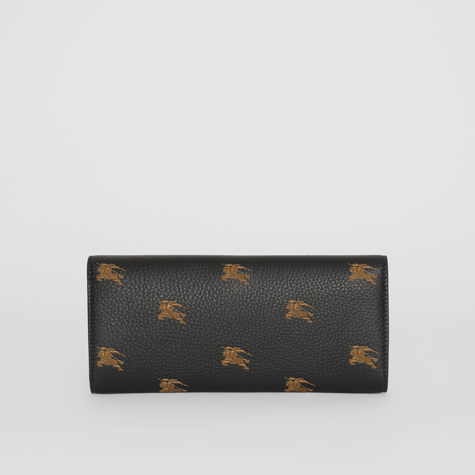 EKD Leather Continental Wallet in Black - Women | Burberry Australia - gallery image 5