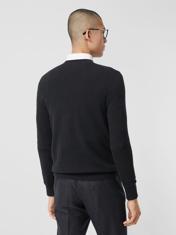 Monogram Motif Cashmere Sweater in Black - Men | Burberry Canada - cell image 2