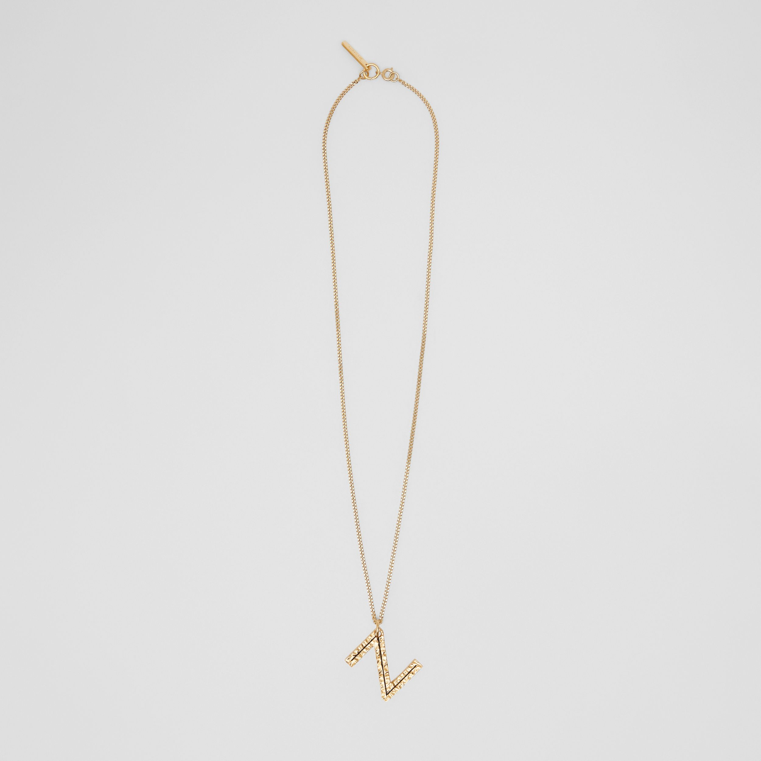 'Z' Alphabet Charm Gold-plated Necklace in Light - Women | Burberry - 1