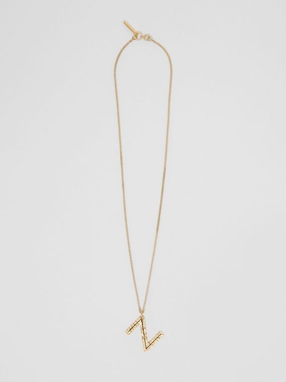 'Z' Alphabet Charm Gold-plated Necklace in Light
