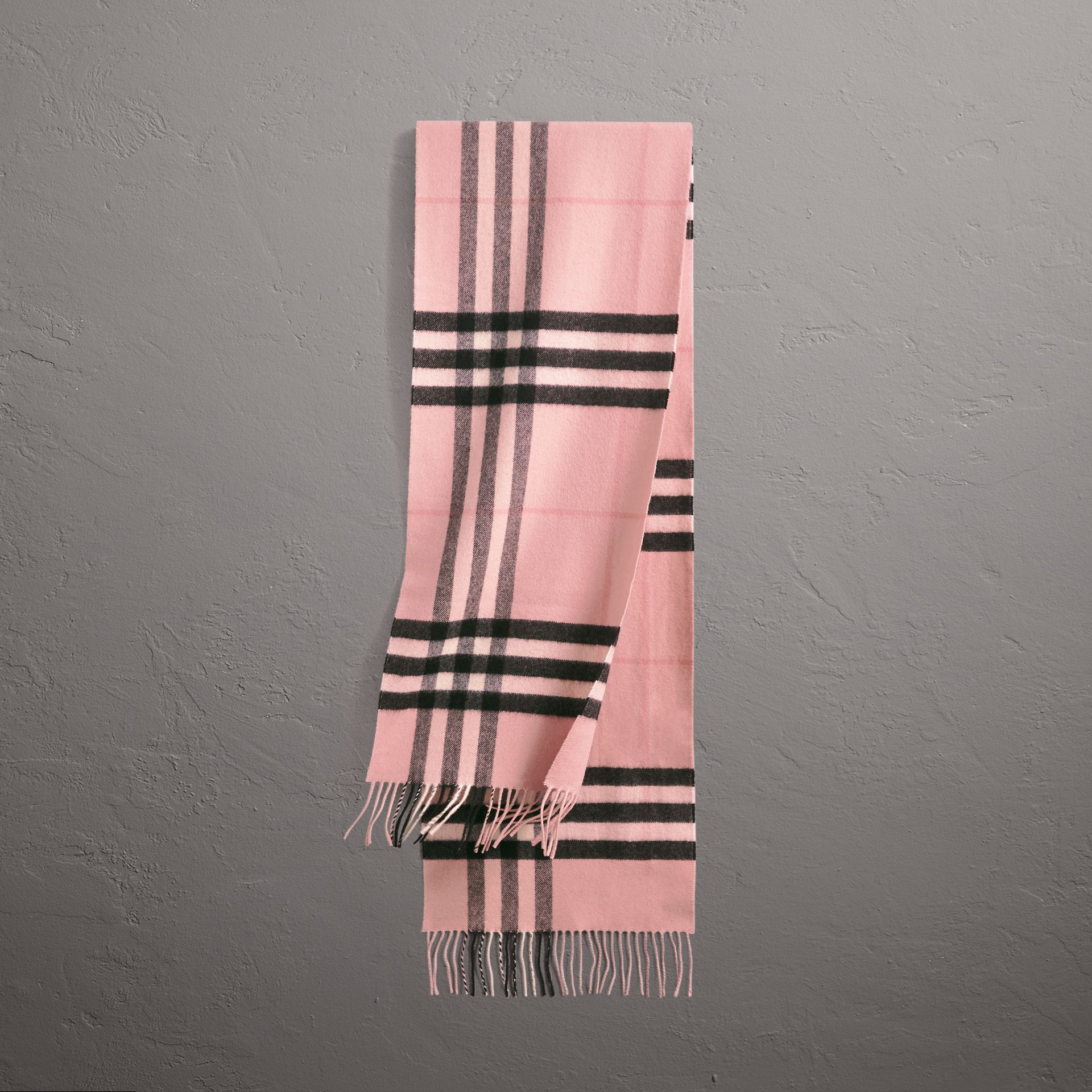 The Classic Check Cashmere Scarf in Ash Rose | Burberry - gallery image 0