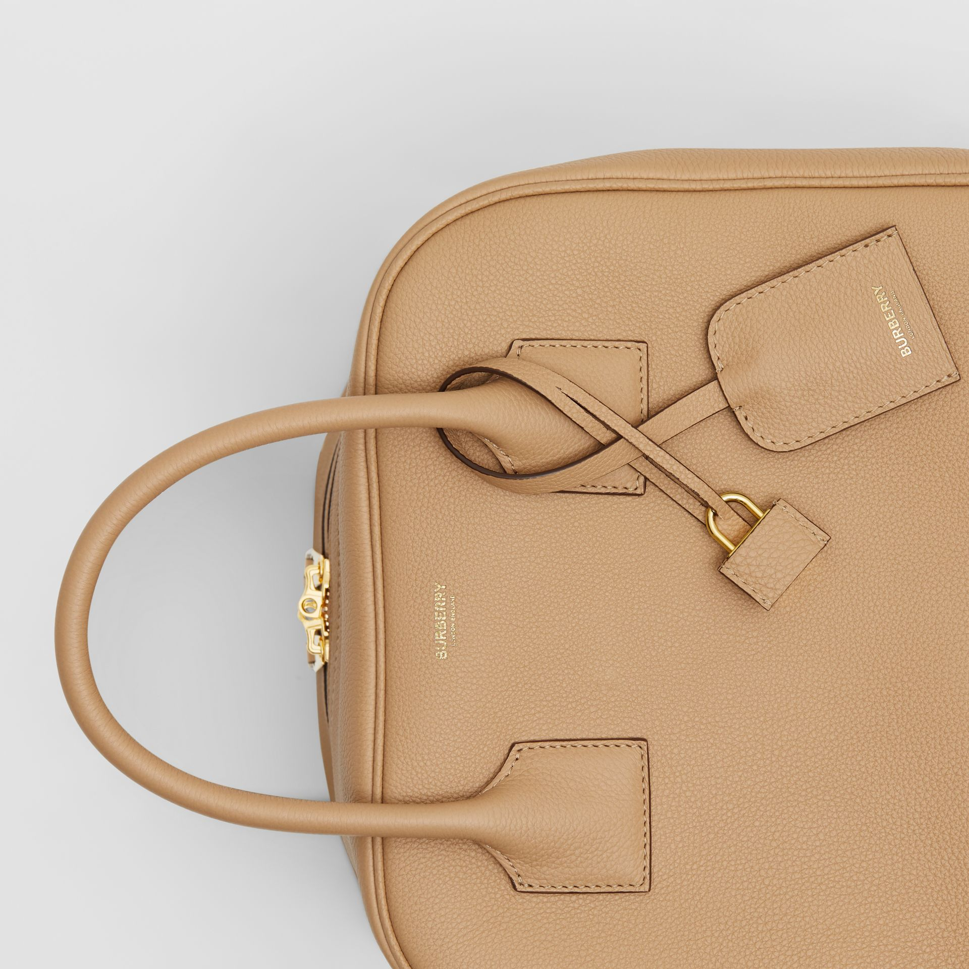 Medium Leather Cube Bag in Biscuit - Women | Burberry - gallery image 8