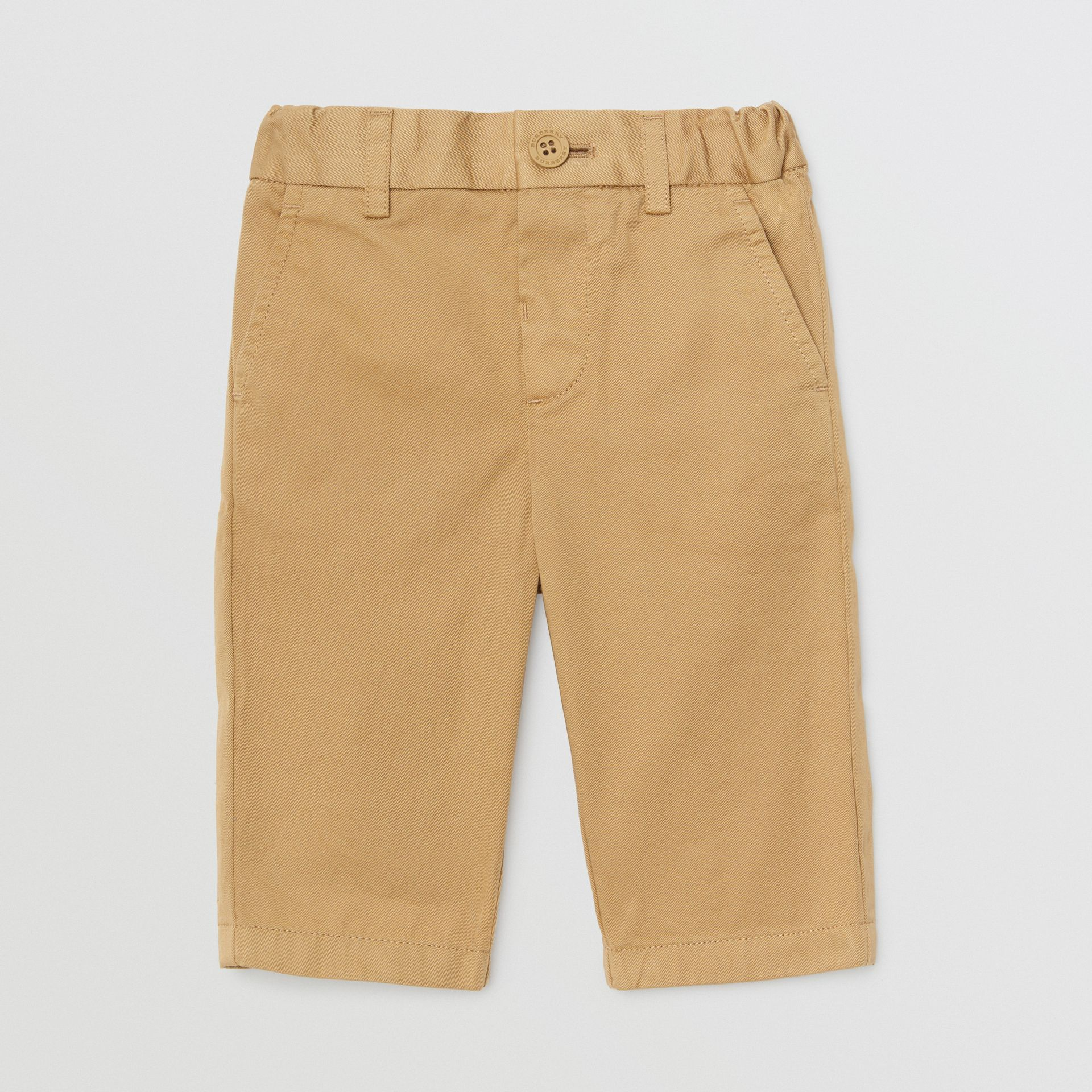 Pantalon chino en coton (Taupe) - Enfant | Burberry Canada - photo de la galerie 0