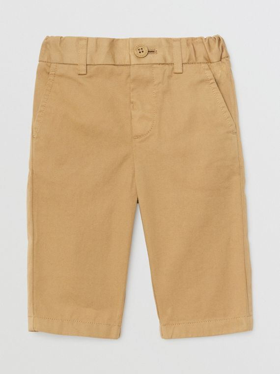 Cotton Chinos in Taupe