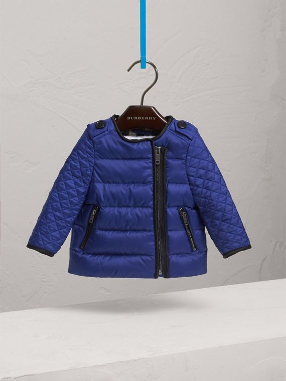 Down-filled Quilted Jacket in Dark Cobalt | Burberry - cell image 2