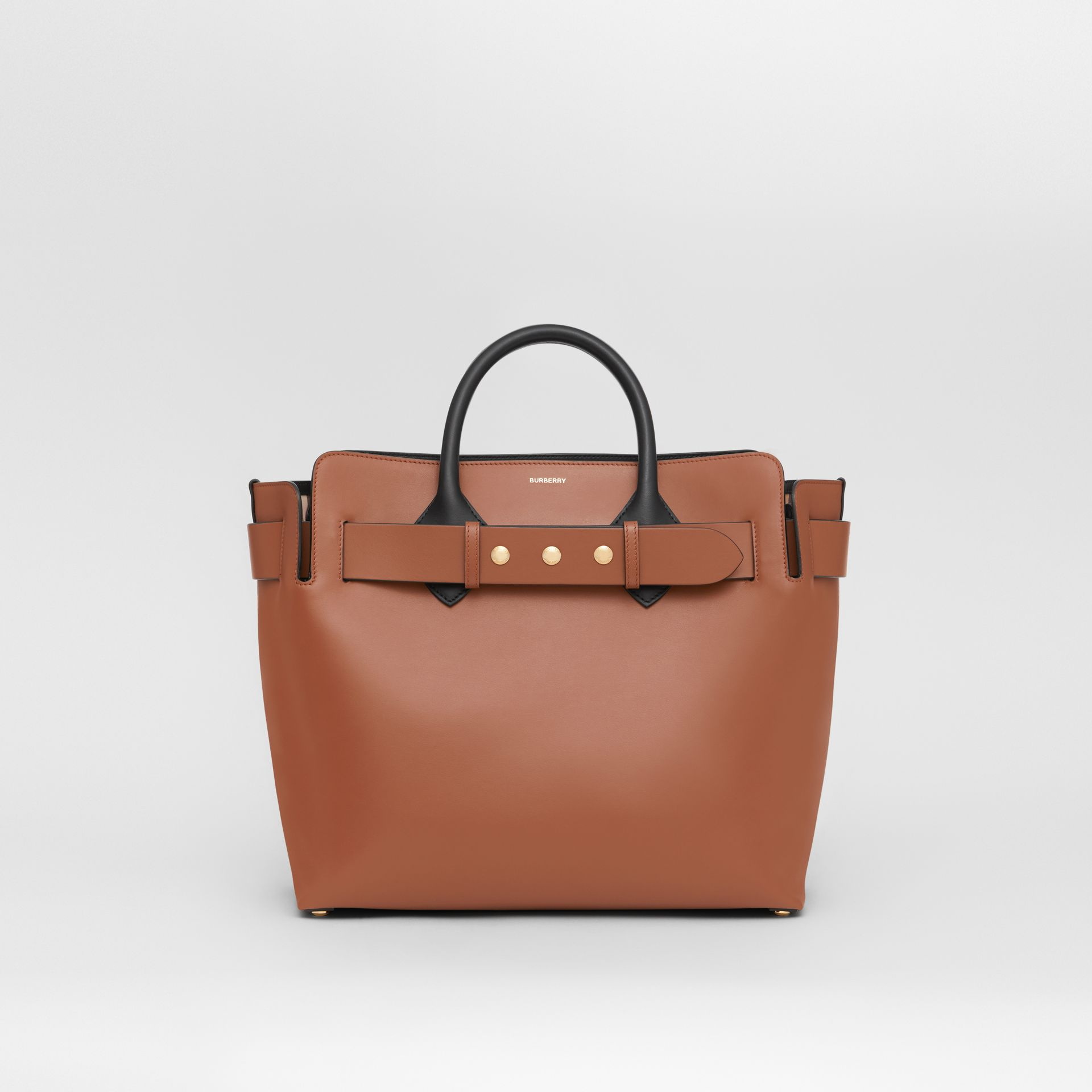 The Medium Leather Triple Stud Belt Bag in Malt Brown - Women | Burberry - gallery image 0