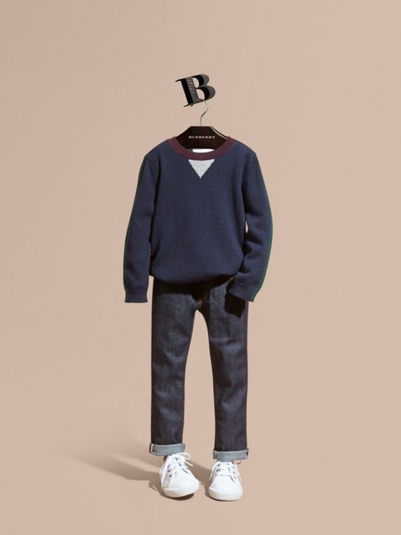 Colour Block Cashmere Sweater